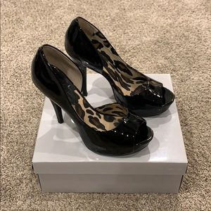 Jessica Simpson black patent high heels, size 7.5